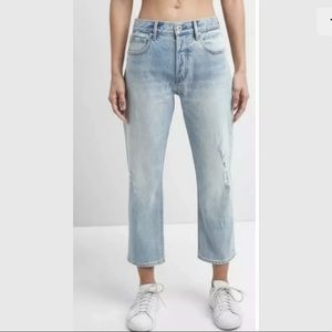 GAP Womans Distressed Jeans High Rise Crop